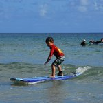 My 5 year old learning to surf