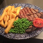Lovely steak and chips