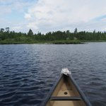 A view from our canoe. Great lake