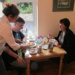 Guests enjoying my speciality Omelette