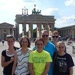 Family at the Brandenburg Gate