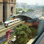 monorail and Berjara Time Square