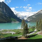 Lake Louise from our room window