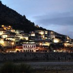 Berat in the evening, view from the hotel