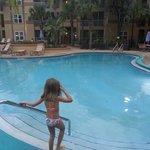 Área de uma das piscinas