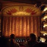 Vista do palco do Teatro Bolshoi