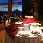 Desayuno con vista al volcán