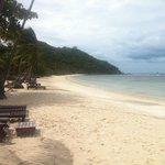 Spiaggia dell'hotel: stupenda e tranquilla