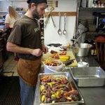 Jesse our chef preparing.