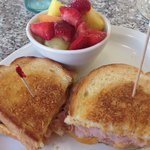 Grilled ham and cheese ($8.49)