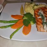 Awesome grilled salmon and veggies