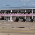 The only pink building in Misquamicut!