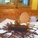 Chocolate brawny with ice cream
