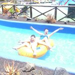 Kids enjoying lazy river