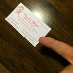 Business card with dust from the A/C