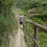de pas tussen Monterosso en Vernazza