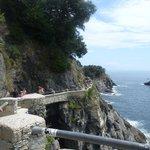 een beter stuk van de pas tussen Monterosso en Vernazza