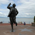 Eric Morecambe statue nearby