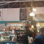 Tin Shack menu and front counter