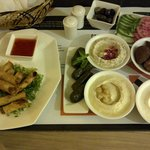 Room service: lebanese appetizers & spring rolls