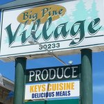 The signs for Keys Cuisine is actually very small under  big pine village sign. Hard to see from
