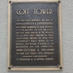 Coit Tower - minnesplatta