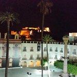 detalle Alcazaba desde la terraza al aire libre,