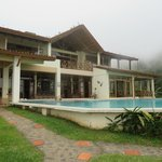 View of Lodge and swimming pool