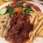Tasty beef stifado for around 5 euro!