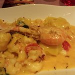 seabass ravioli with scampi €18
