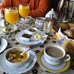 El desayuno para deleitarse.