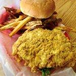Chicken on the Chicken Fried Chicken Sandwich