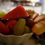 Fruit Salad on Tuna Plate