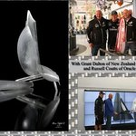 Linea Murano Art President during America's Cup in Venice with Grant Dalton (New Zealand Team) R