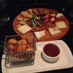 Cheese board and cheese curds
