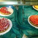 Tartas con fruta fresca...