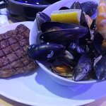 mussels in whisky,bacon & cream...yummy!