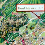 The hotel map showing proximity to The Alhambra