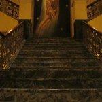 Lobby staircase.