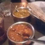 Butter Chicken Curry & Fish Curry & Rotii Bread