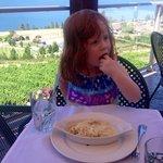 My granddaughter enjoying her first taste od spatzle