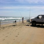 Set up on the beach ....