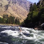 First time SUP boarding the rapids