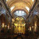 Fabulously gilded interior of La Iglesia de la Compañía de Jesús