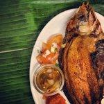 Daing na Bangus, deep fried milkfish