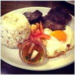 tapsilog, all day filipino breakfast available all day !!