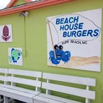 Be on the lookout for a brightly colored building on the main drag through Kure Beach by the pie