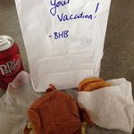 They even personalized our bag!  Bacon cheeseburger with onion rings in the pic.