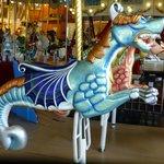 Seahorse carousel figure