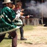 Gunfighters in action